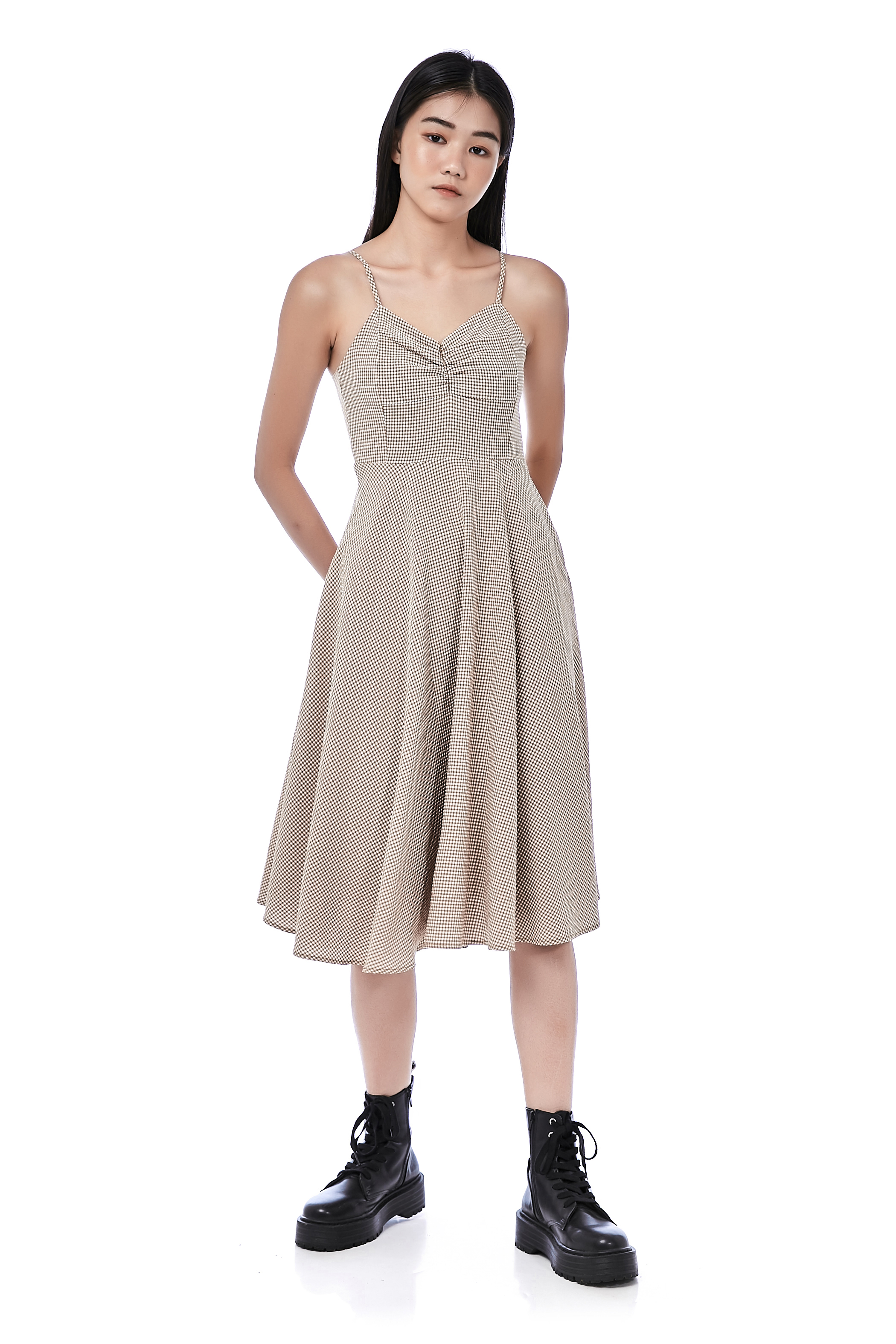 Blaise Ruched Sweetheart Dress
