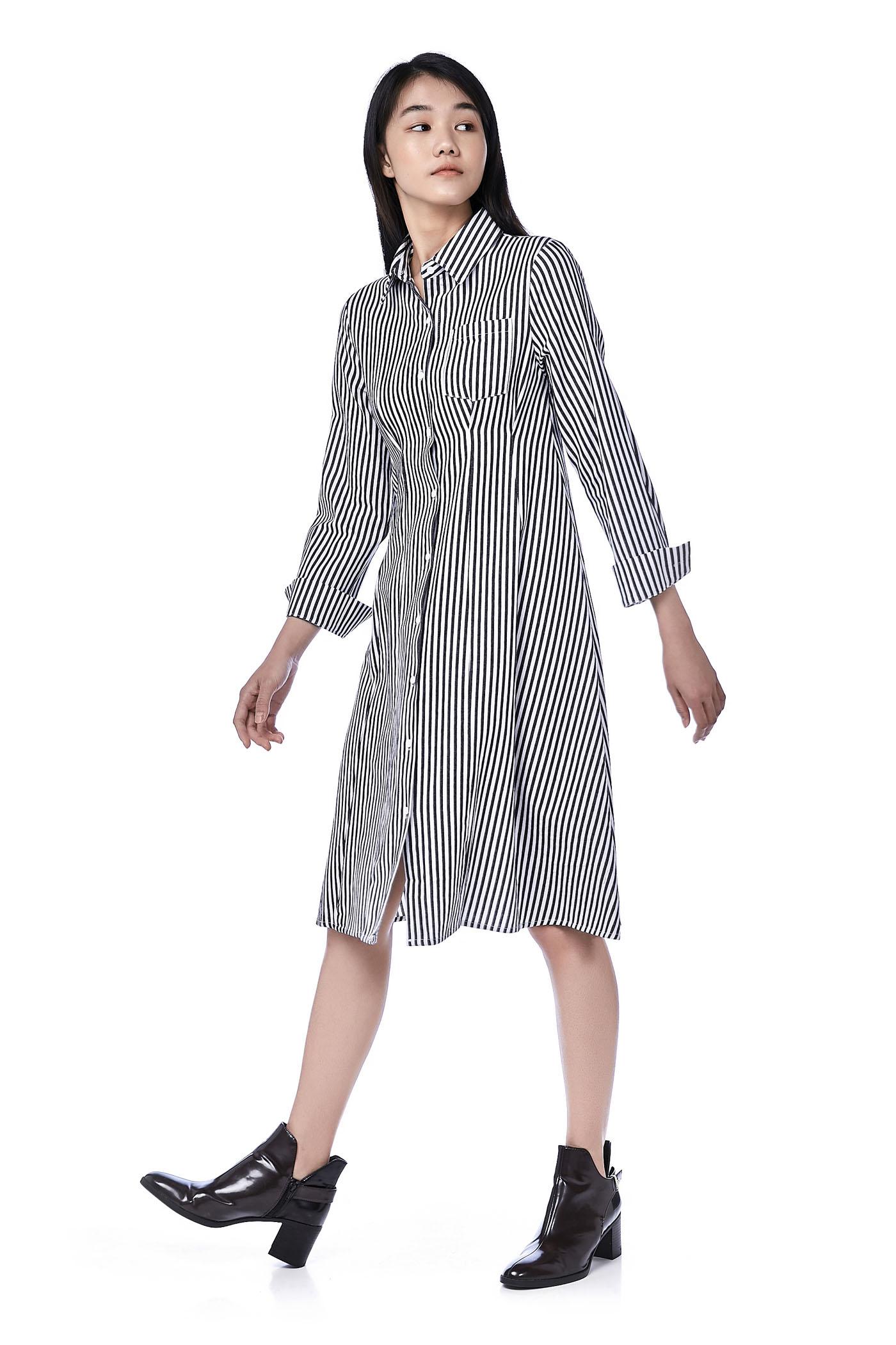Caylee Tuck-Seam Shirtdress