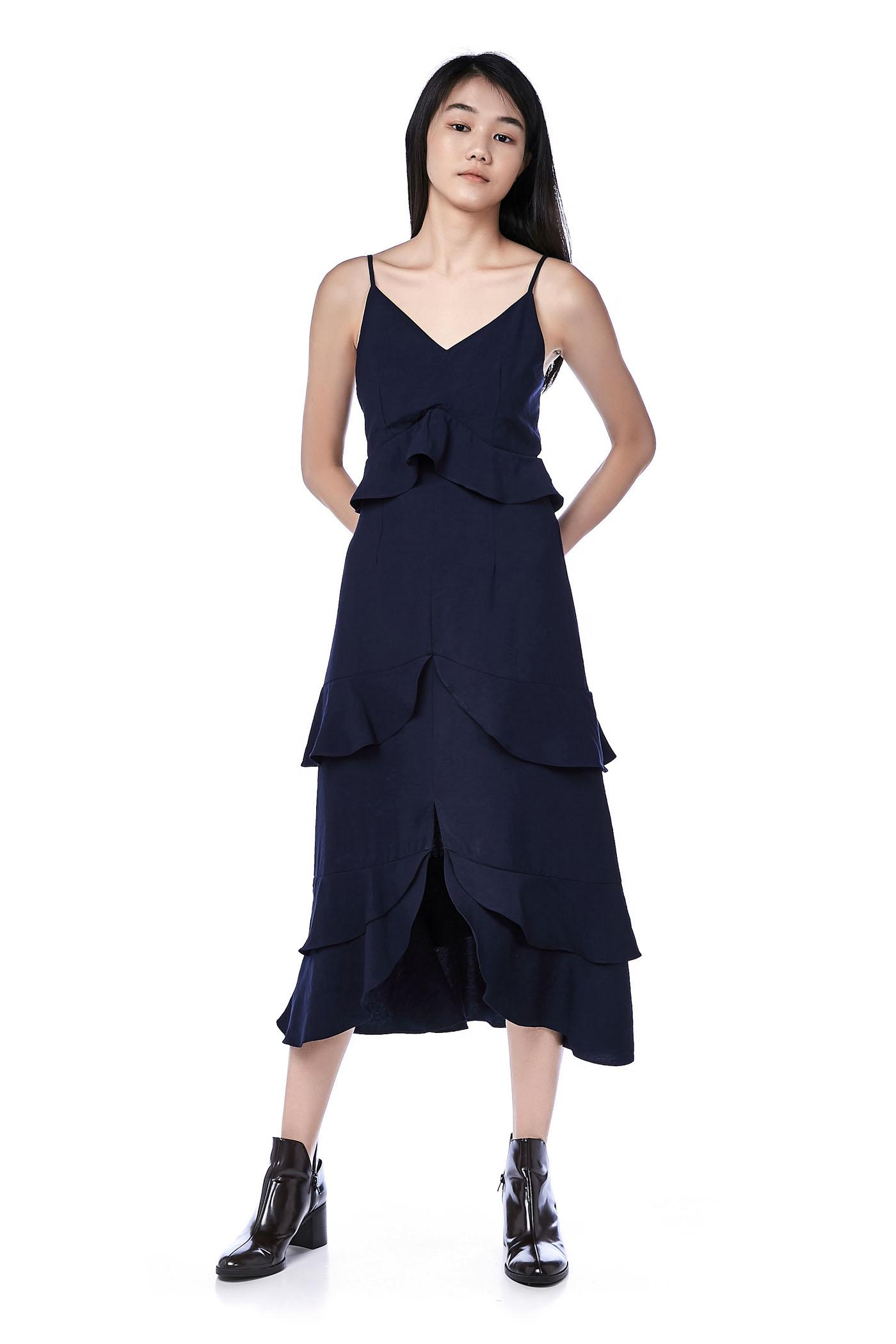 Nalini Tiered-ruffle Dress