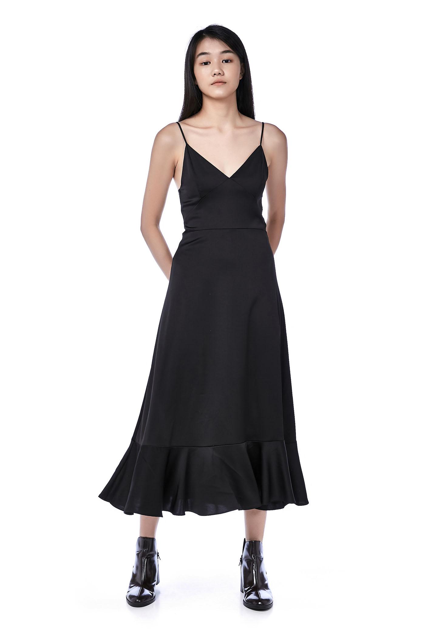 Marilyn Frill-Hem Slip Dress
