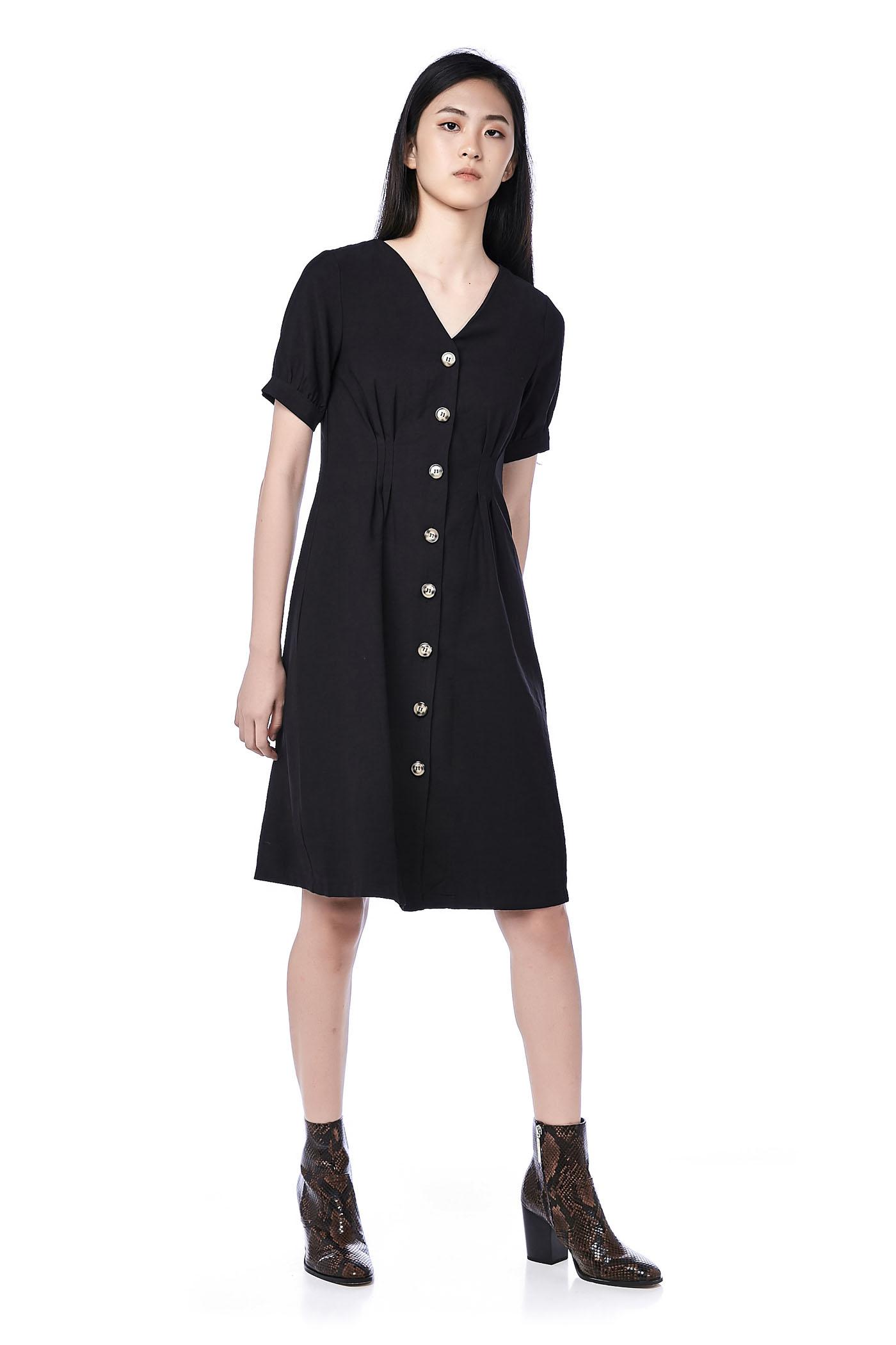 Billie Tuck-Seam Dress