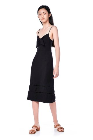 Davie Front-Tie Dress