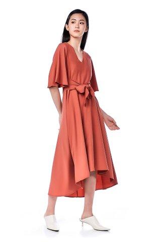 Berra Dip-Hem Dress