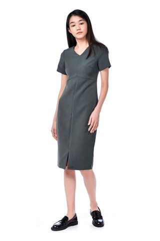 Adhyra Centre-Slit Midi Dress