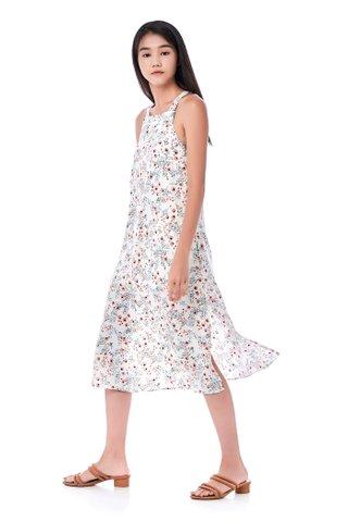 Ileena Bib Midi Dress