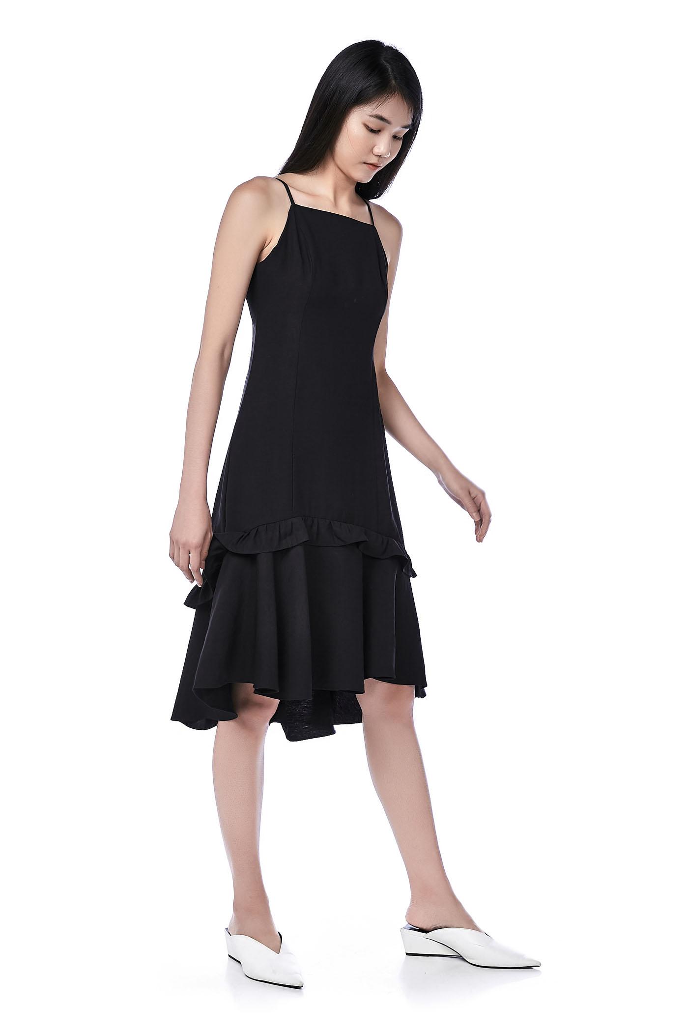 Lamour Ruffle-Hem Dress