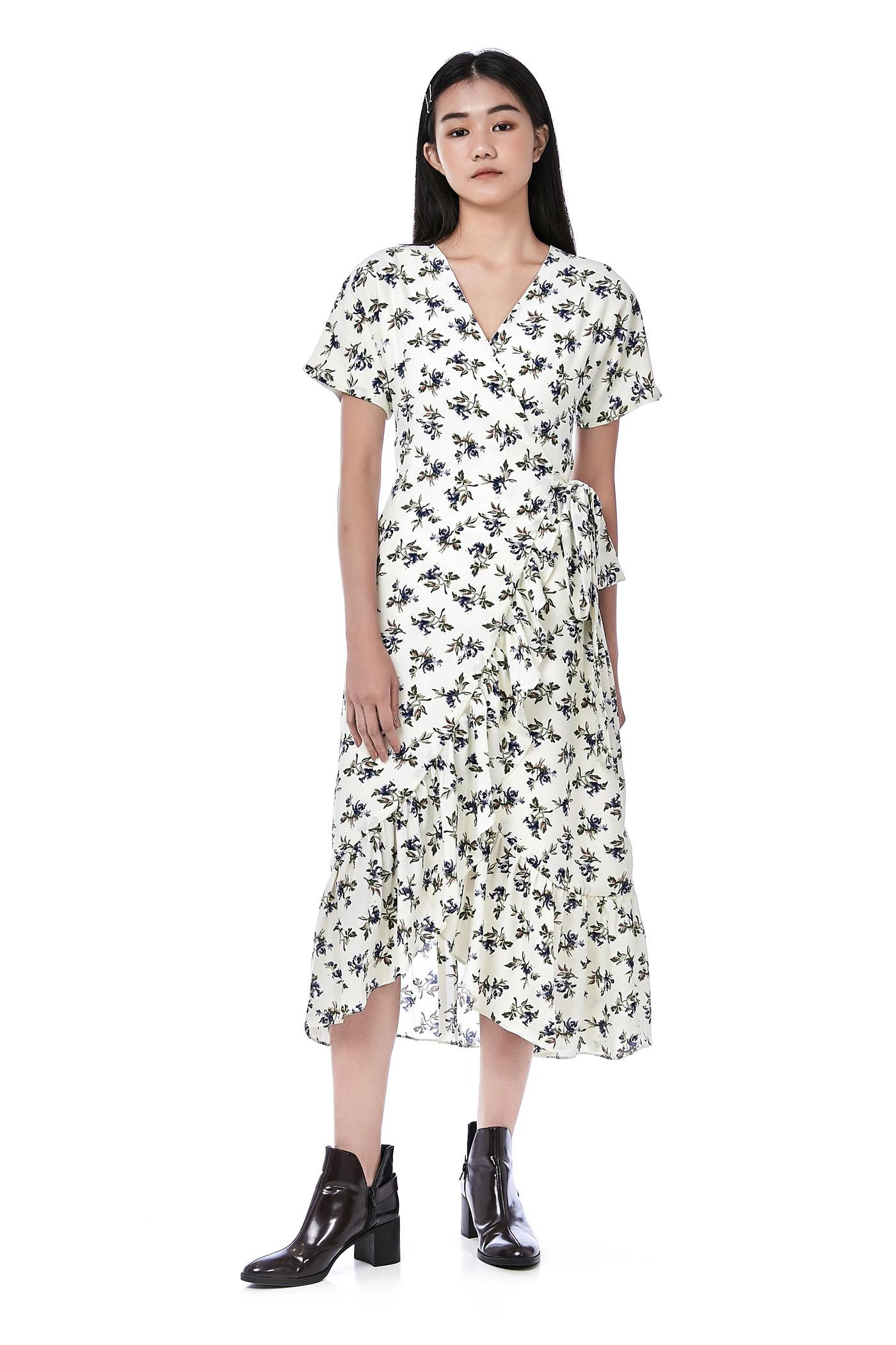 Aleja Ruffle Wrap Dress