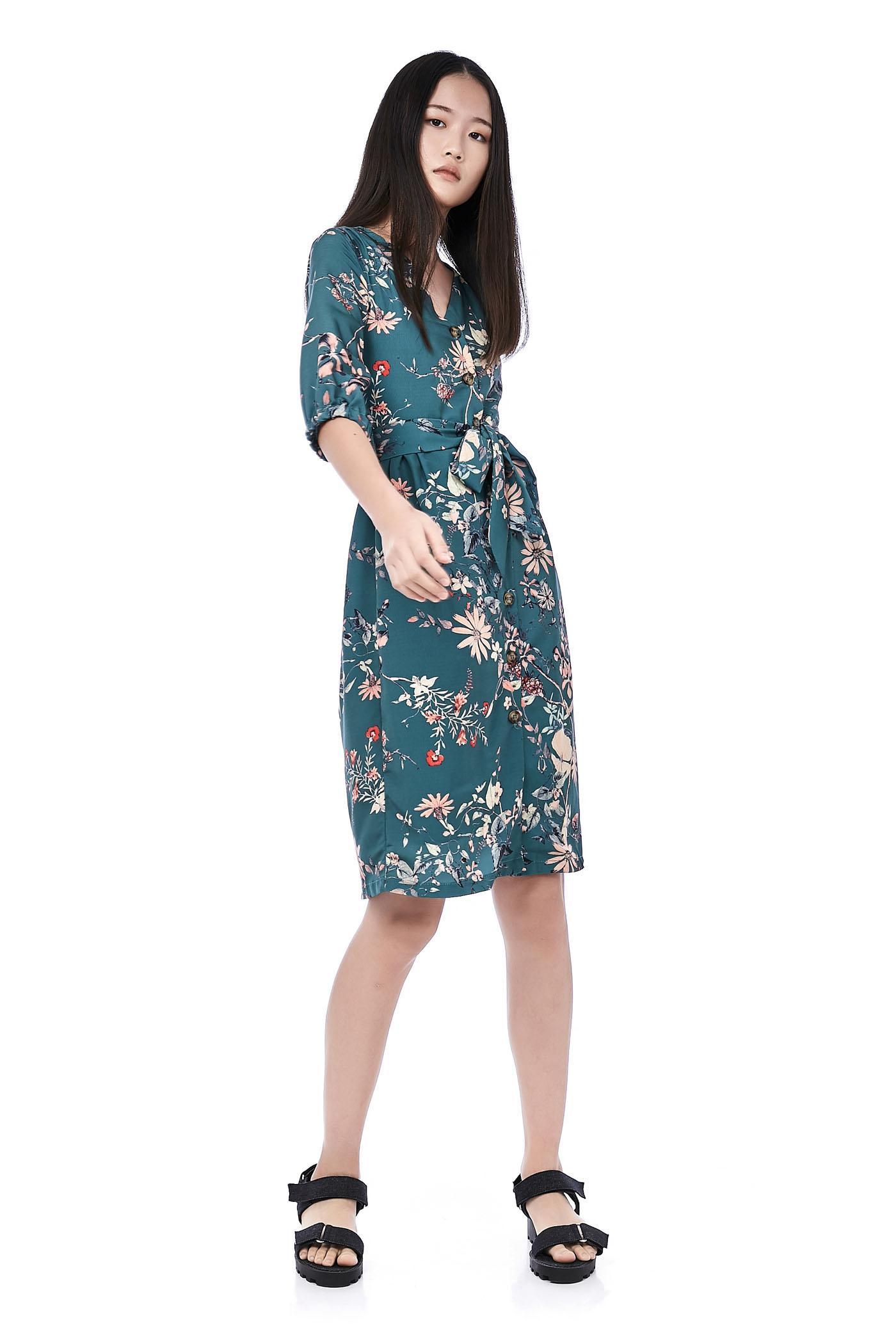 Hattie Button-Through Dress