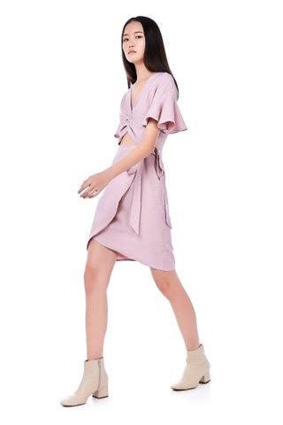 Karlie Twist-Front Dress