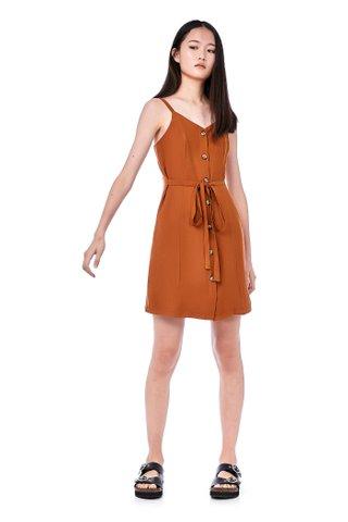 Pimm Tie Waist Button-Through Dress
