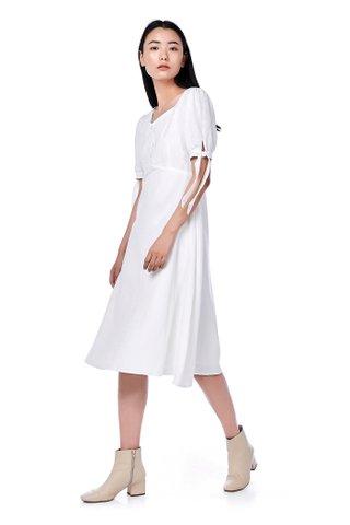 Raelynn Tie-Sleeve Dress