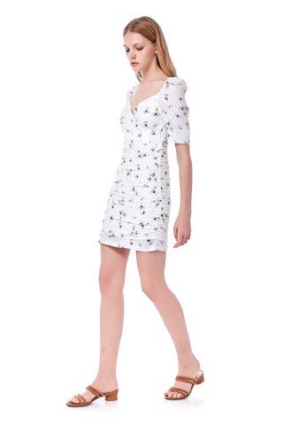Carolyn Overlap Ruched Dress