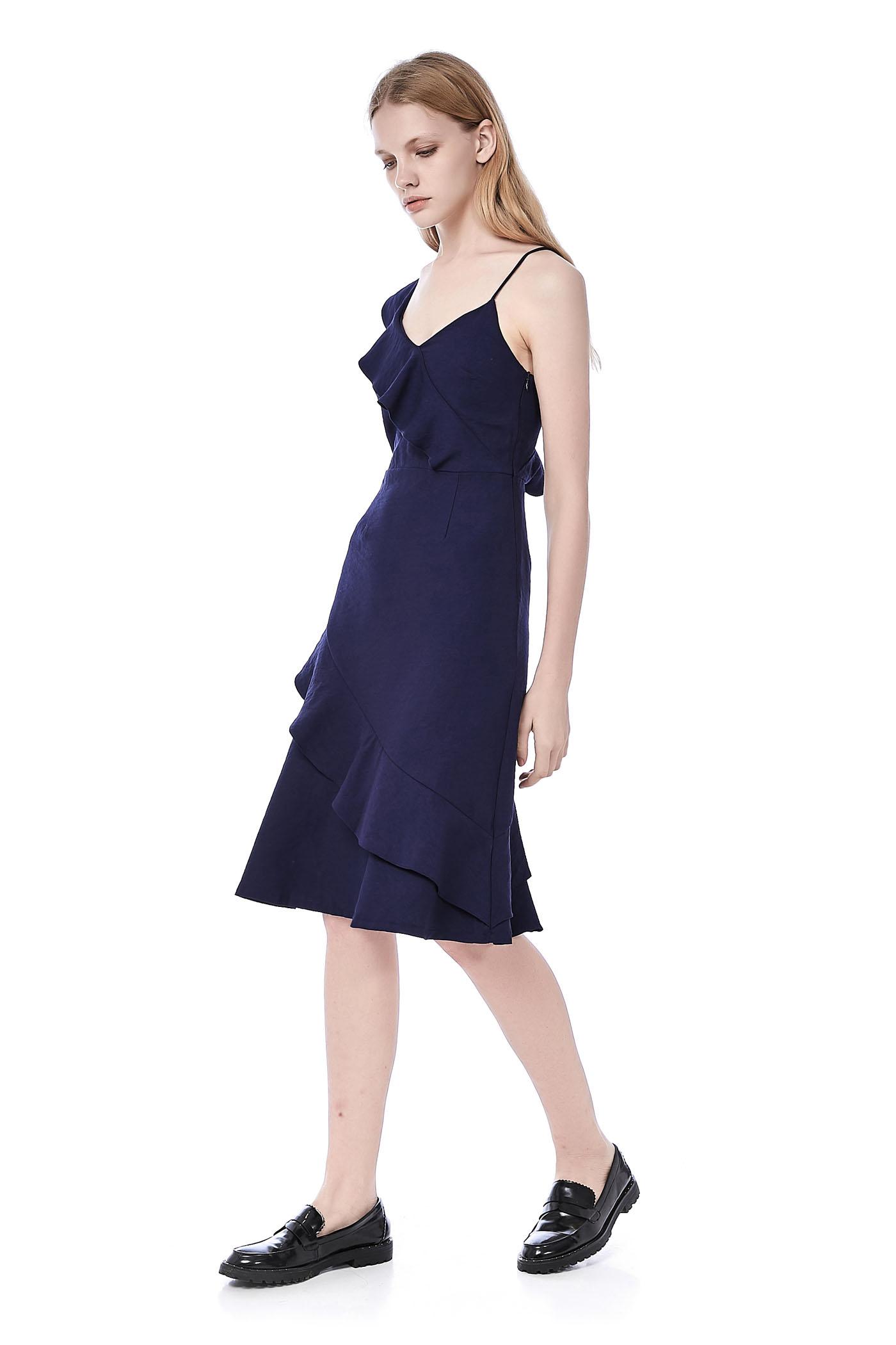 Sunny Ruffle-Trim Dress