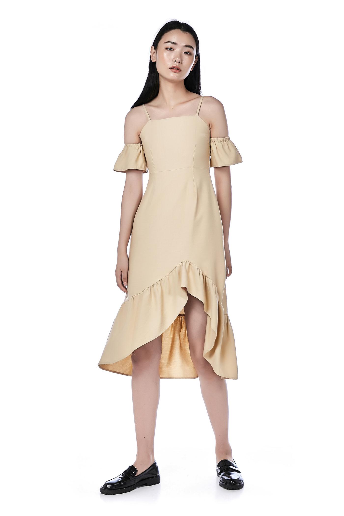 Wrenn Cold-Shoulder Dress