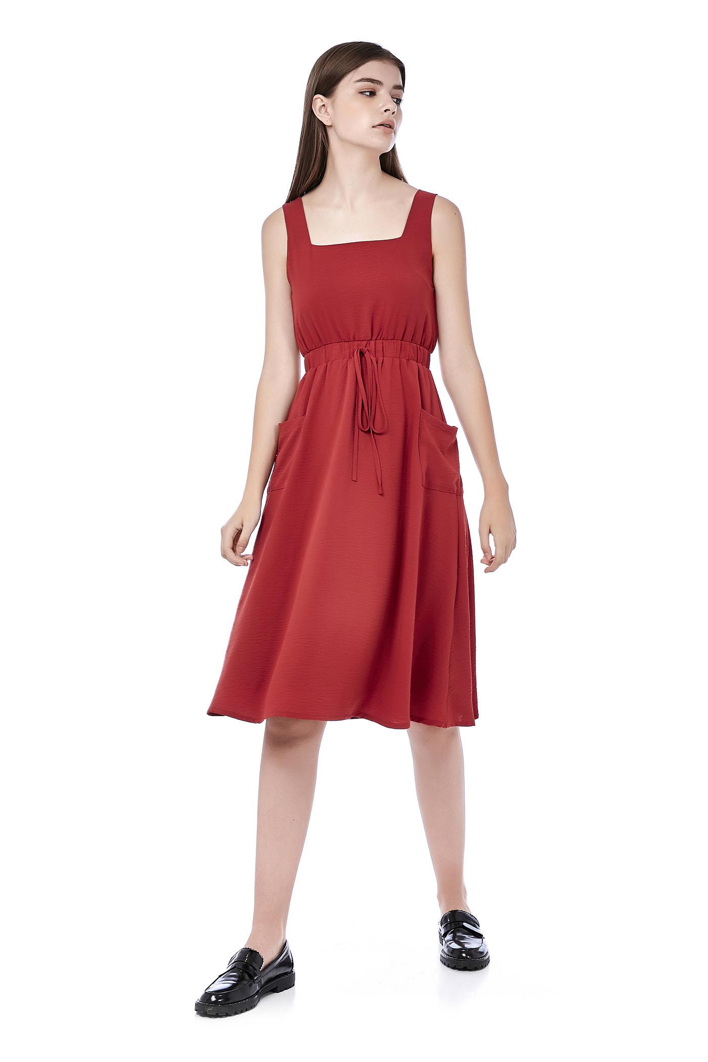 Zyra Gathered-Waist Dress