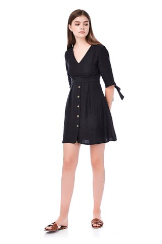 Clary Tie-Sleeve Dress