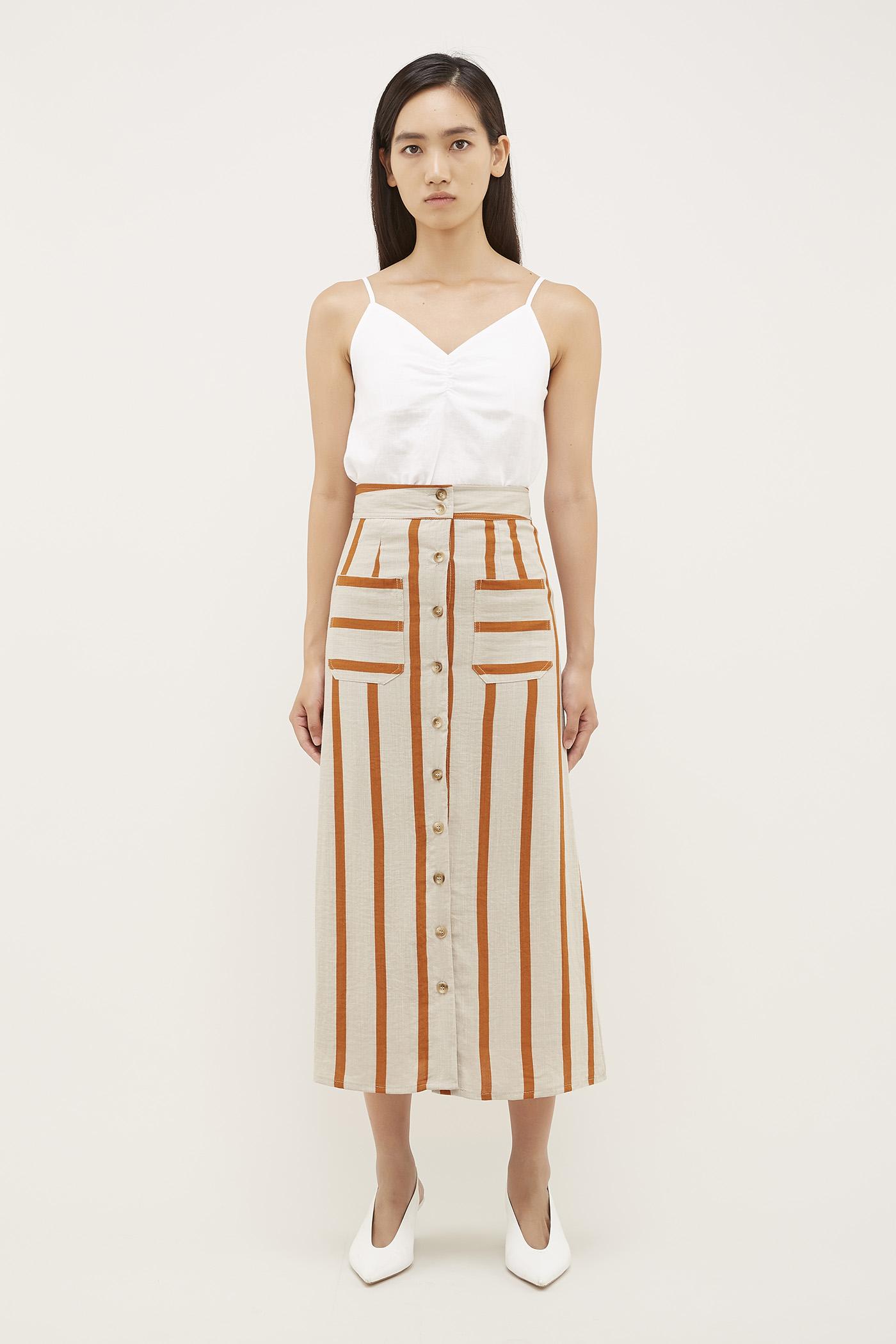 Aleya Button-Through Skirt