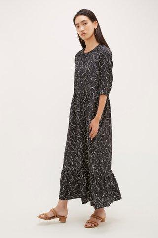 Nola Frill-Hem Dress