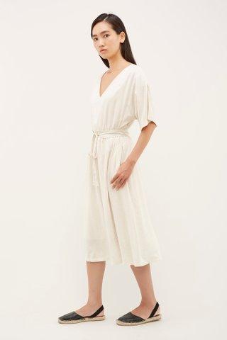 Sayen Gathered-Waist Dress