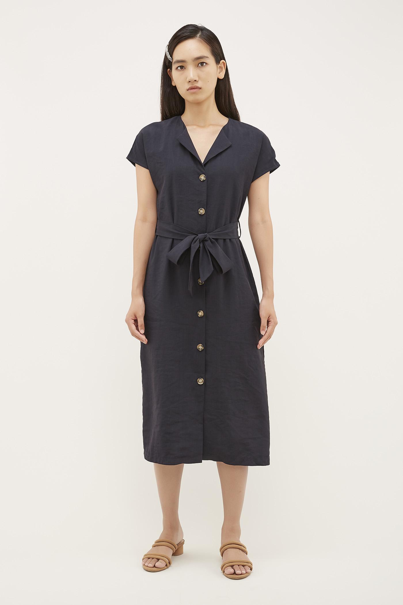 Lauris Button-Through Dress