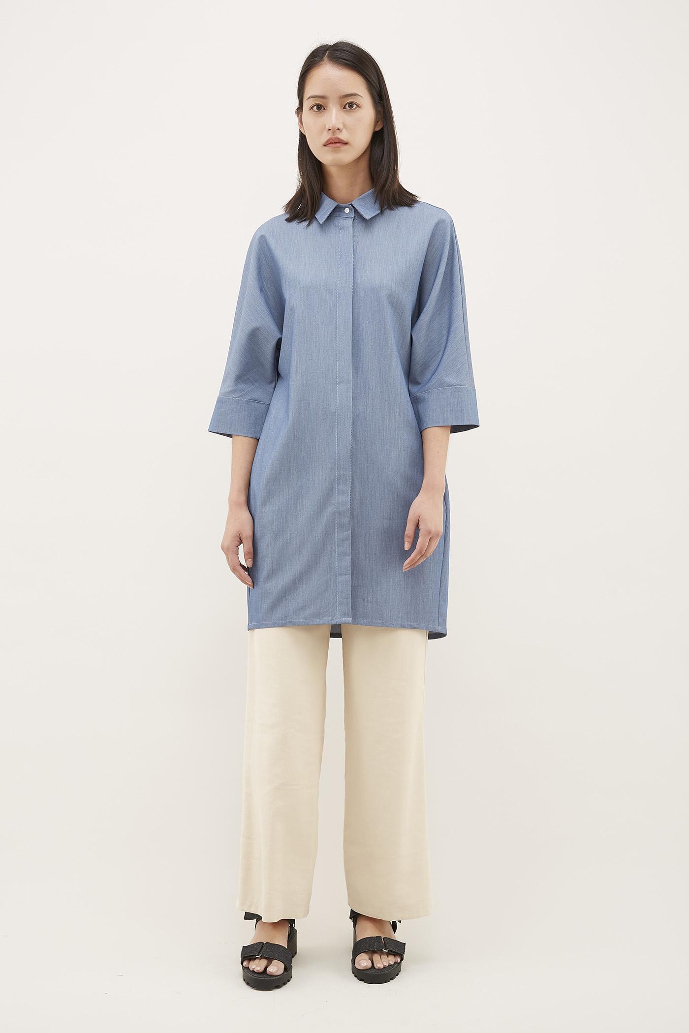 Phias Chambray Oversized Shirt