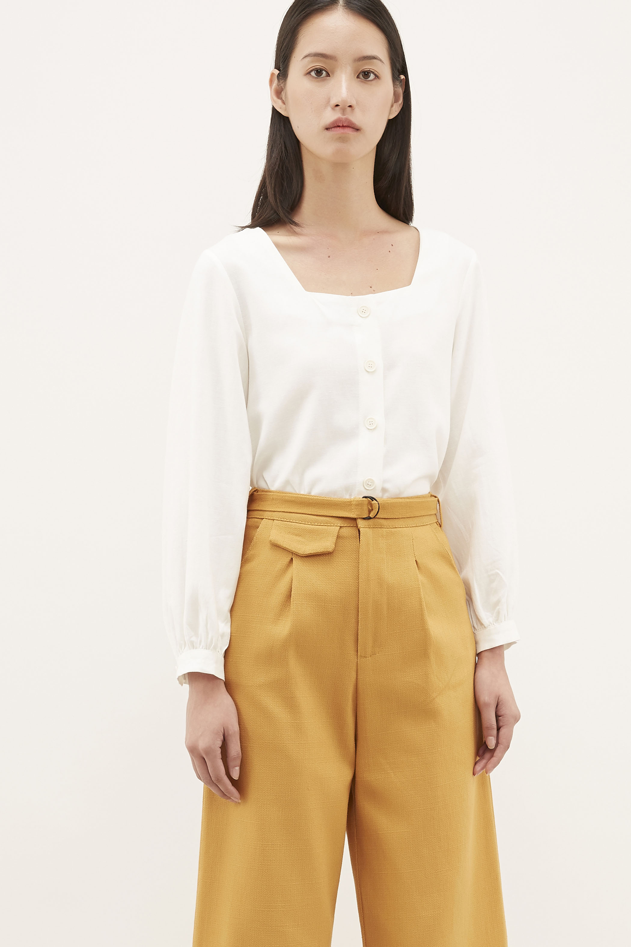 Zakira Square-neck Blouse