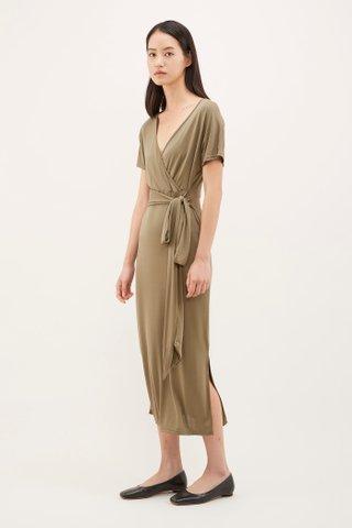 Pevy Cross-front Jersey Dress