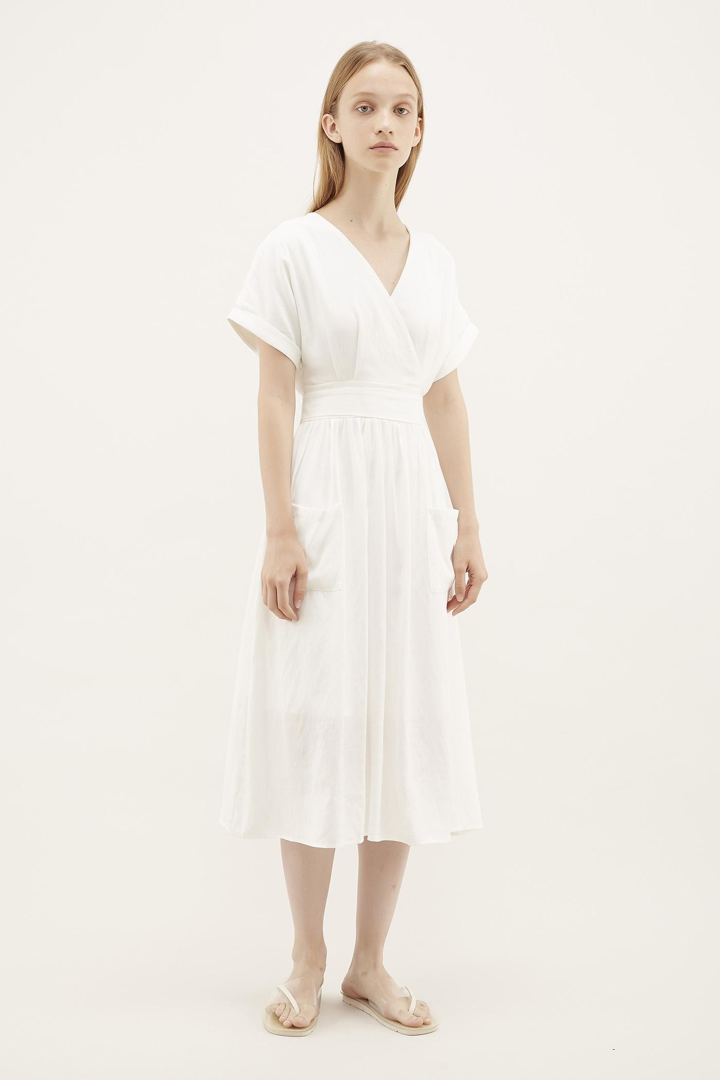 Schyler Cross-Front Midi Dress