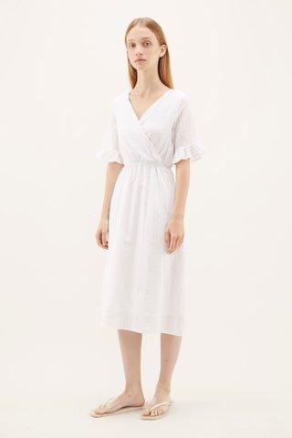 Hannan Frill-sleeve Dress