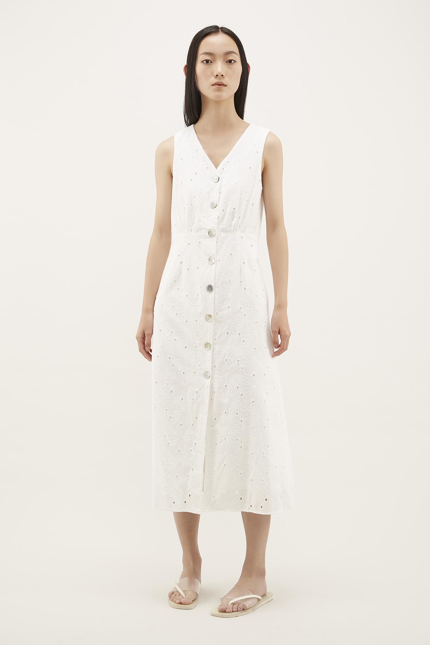 Evania V-neck Column Dress
