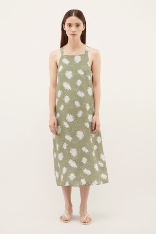 Pineri Square-Neck Dress