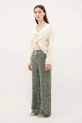 Sayra Ruched-front Blouse