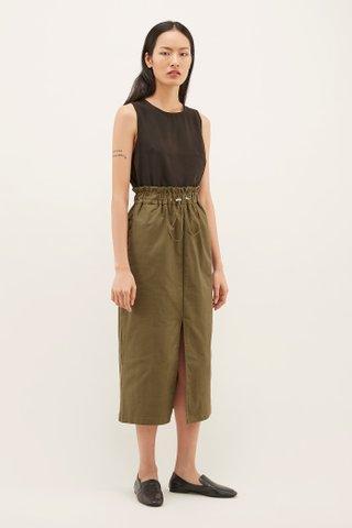 Angus Gathered-waist Skirt