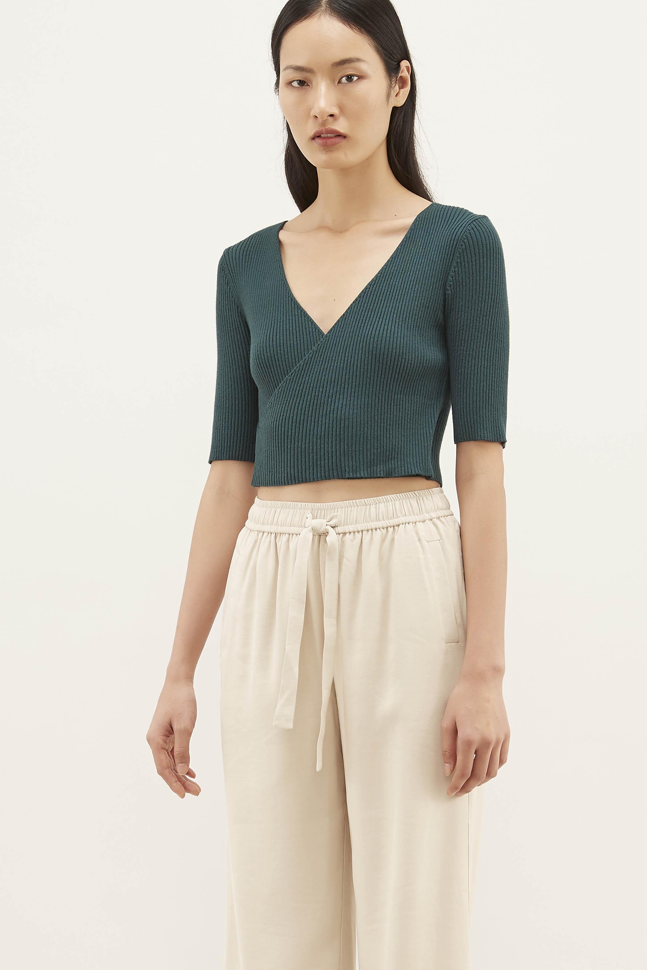 Daphne Knit Wrap Top