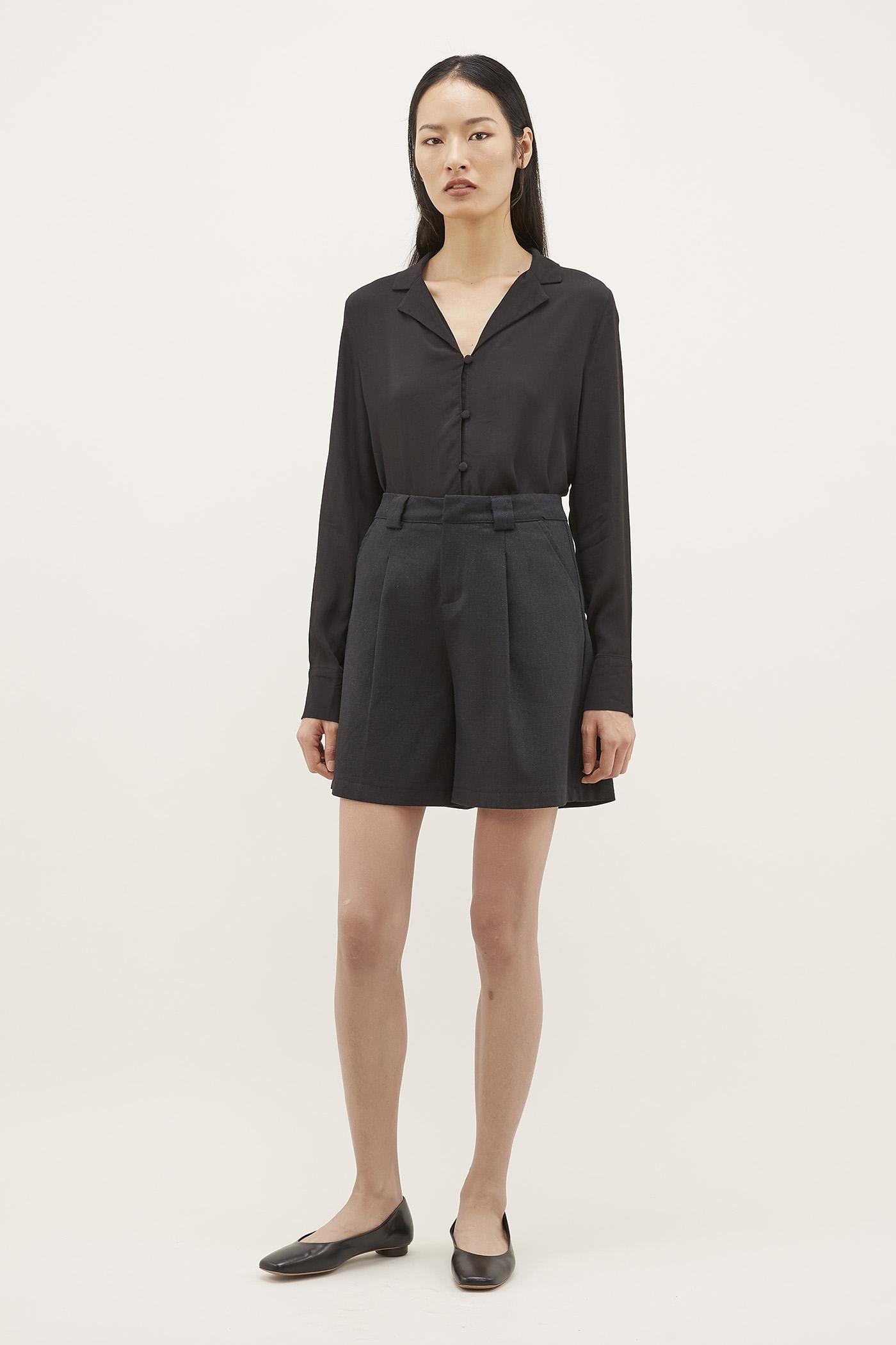 Shifa Pleat-front Shorts