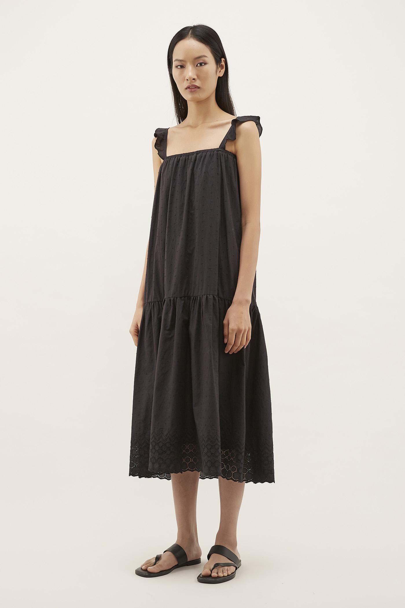 Rhian Textured Drop-waist Dress