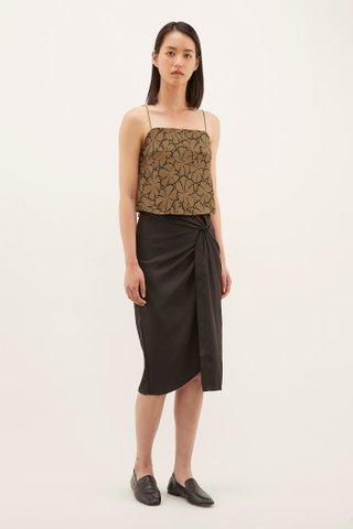 Veanna Twist-front Skirt