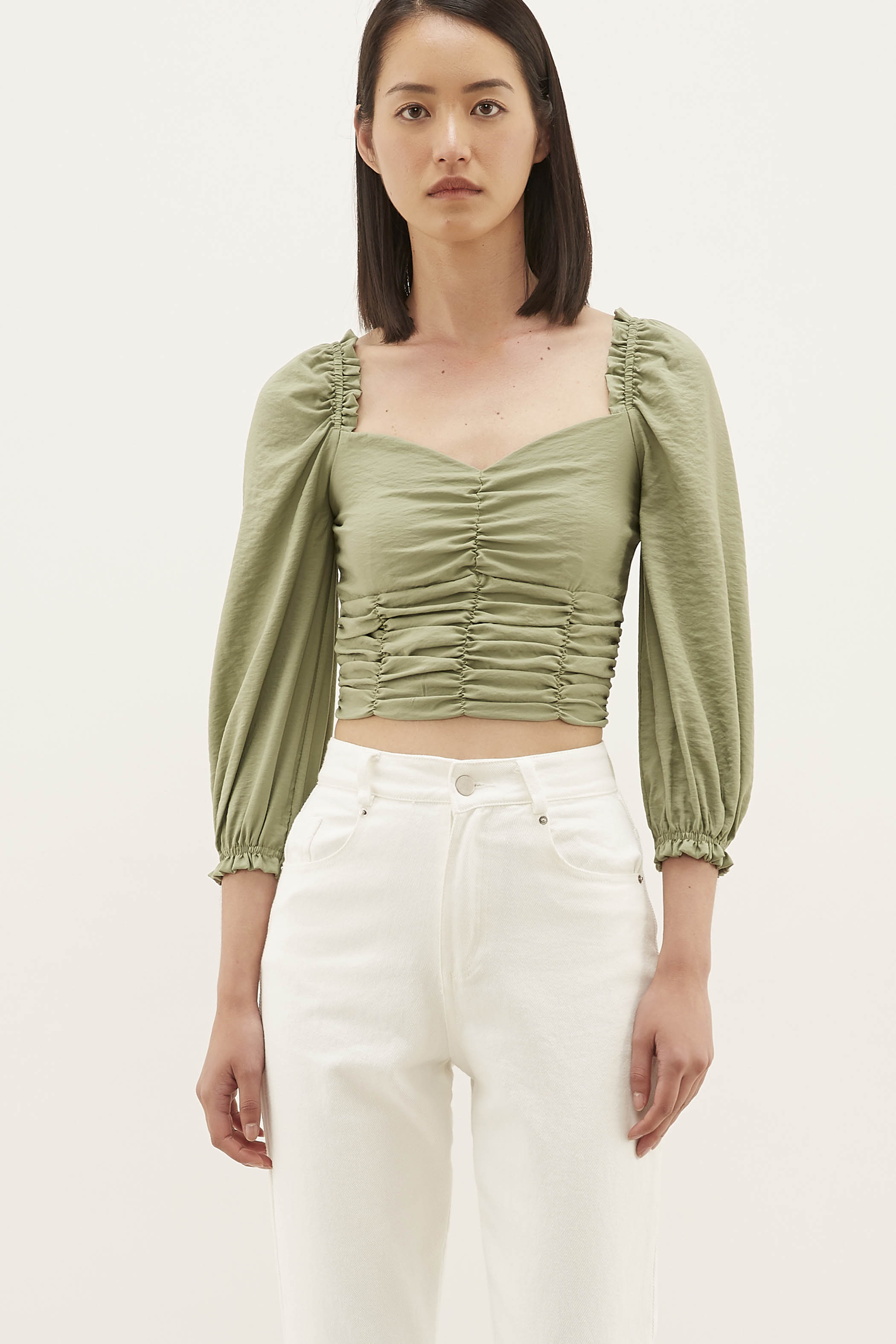 Bevanne Ruched Crop Top