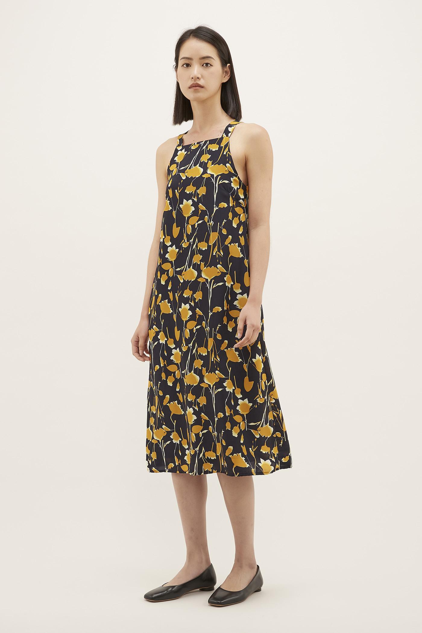 Yelena Bib Midi Dress