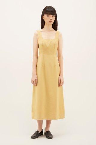Korina Square-neck Midi Dress