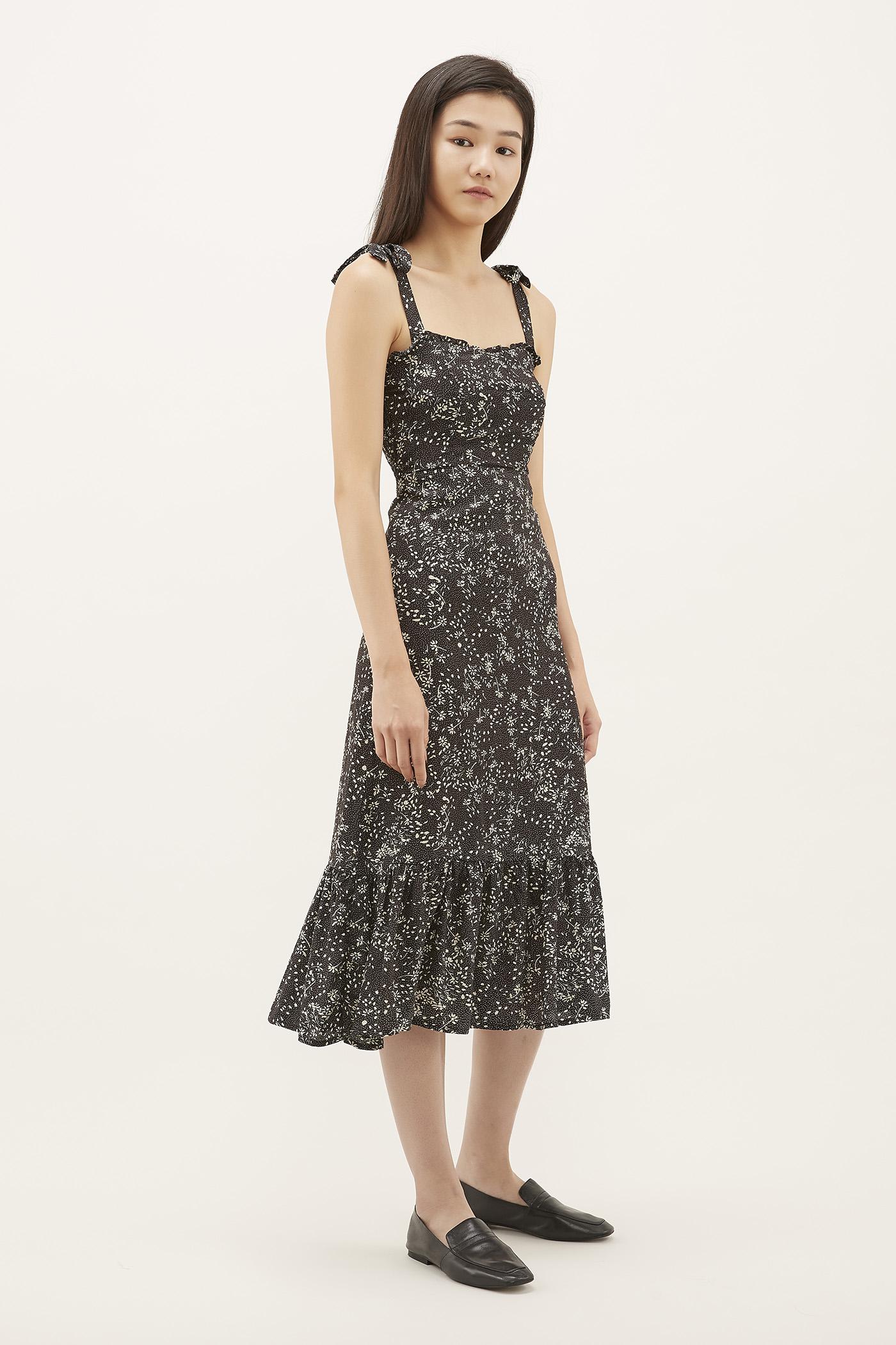 Clarita Frill-trim Fitted Dress