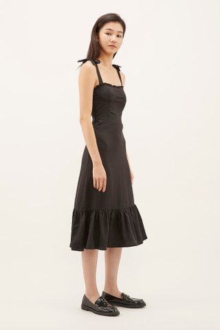 Varita Frill-trim Fitted Dress