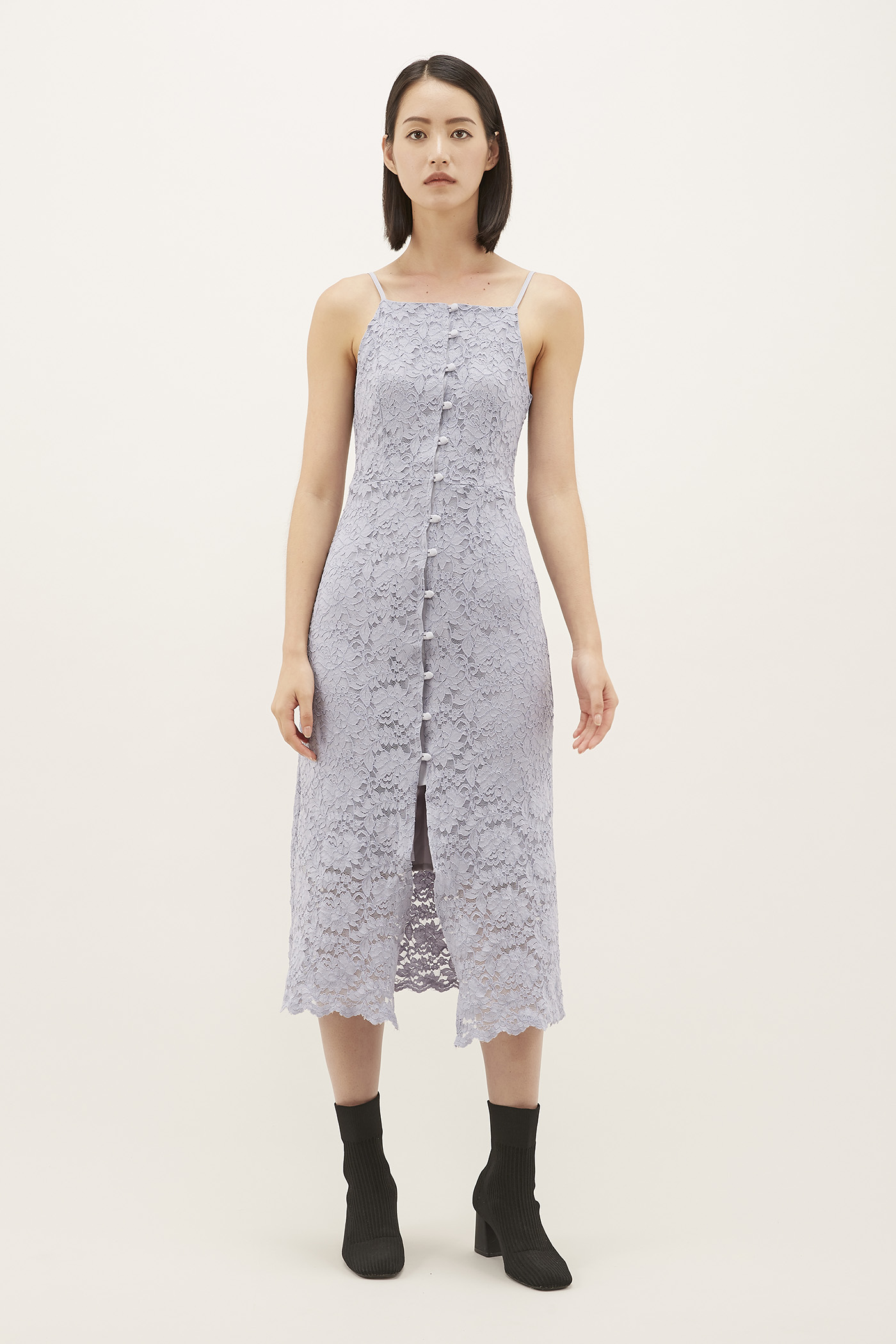 Cristene Lace Fitted Dress