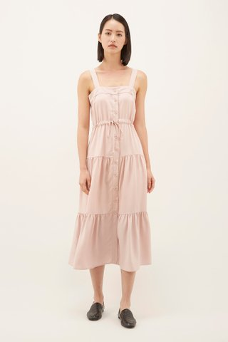 Delayna Drawstring Tiered Dress