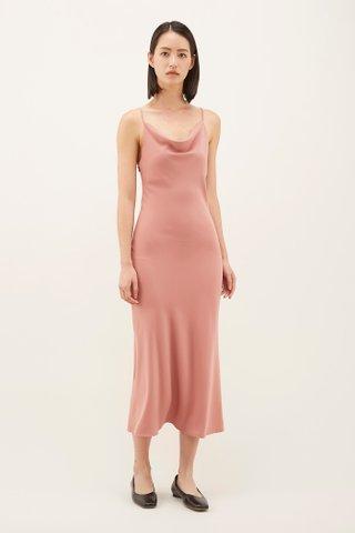 Jaclyne Cowl-neck Slip Dress