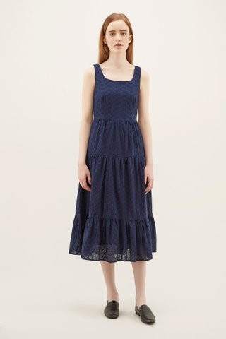 Kolina Broderie Tiered Dress