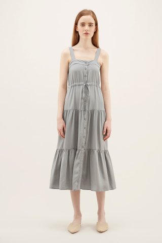 Delayna Drawstring Tiered Dress