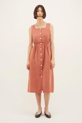 Regena Square-neck Dress