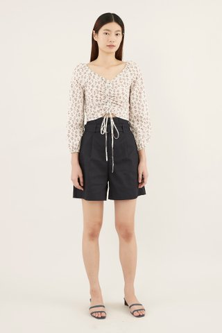 Chalyn Ruched-front Crop Top