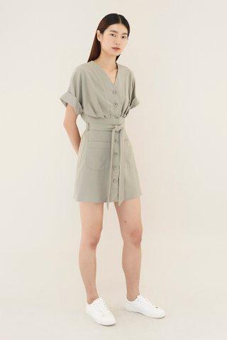 Tiena Belted Dress